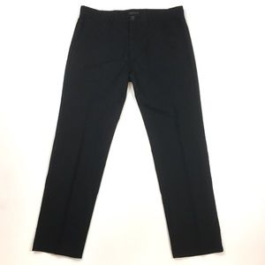 Theory Bredford cotton trouser black chino